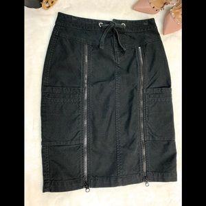 A/X Armani Exchange Black Zippered Skirt, Sz: P0